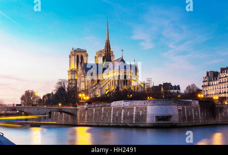 The Notre Dame is historic Catholic cathedral, one of the most visited monuments in Paris, considered as one of the finest examples of French Gothic a Stock Photo
