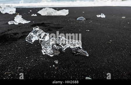 Jökulsárlón is a large glacial lake in southeast Iceland, on the edge of Vatnajökull National Park. - Stock Photo