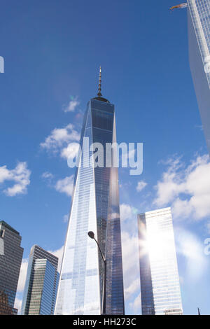 One World Trade Center (freedom tower), Lower Manhattan, new York City, United states of America. - Stock Photo