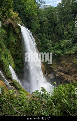 Tropical Pulhapanzak waterfall in Honduras - Stock Photo