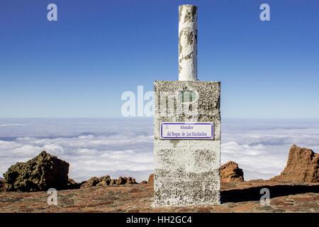Mirador del Roque de Los Muchachos. The highest peak of La Palma, Canary Islands, Spain.