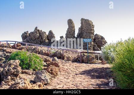 Roque de Los Muchachos. The highest peak of La Palma in Canary Islands at 2426m above sea level.
