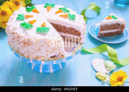 Easter Carrot cake - Stock Photo