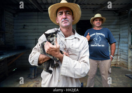 Tobacco farmers, Viñales area, Cuba - Stock Photo