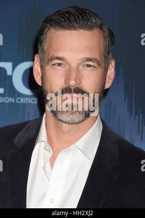 Pasadena, California. 11th Jan, 2017. PASADENA, CA - JANUARY 11: Actor Eddie Cibrian attends the 2017 Winter TCA - Stock Photo