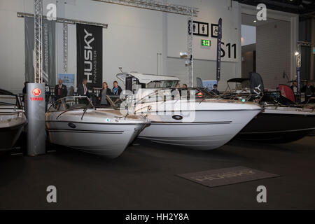 Excel London, UK. 15th Jan, 2017. The final day of the London boat show at Excel, London. There were boats, talks, - Stock Photo