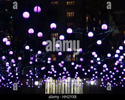 London, UK. 15th Jan, 2017. Canary Wharf Winter Lights Festival kicks off in London, UK. Credit: Nastia M/Alamy - Stock Photo