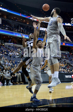 Washington, USA. 16th Jan, 2017.  Providence guard Kyron Cartwright (24) puts up a difficult shot against Georgetown - Stock Photo