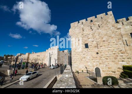 Jaffa Gate in Old city of jerusalem, Israel - Stock Photo
