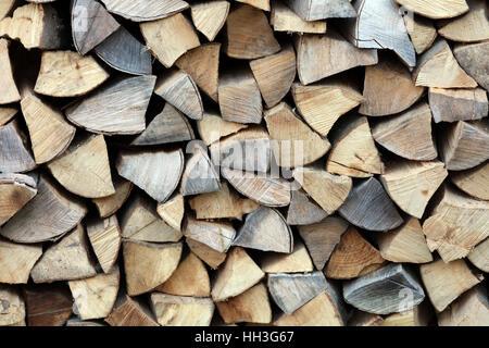 Brennholz Kaminholz Feuerholz gespalten