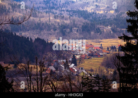 Village of Lokve in Gorski Kotar mountain region of Croatia - Stock Photo