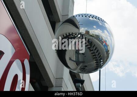 Mirror Baseball at Washington Nationals Park at the Washington Nationals Ball Park - Stock Photo