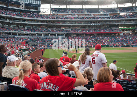 Fans at the Washington Nationals Ball Park in Washington, DC. - Stock Photo