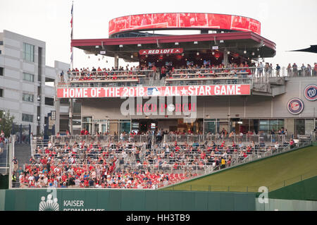 The Red Porch at the Washington Nationals Ball Park during Ballgame in Washington, DC - Stock Photo
