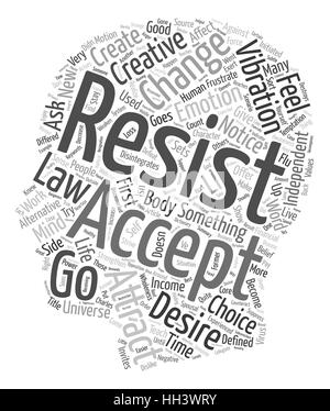 Create Resistance or Creative Acceptance text background wordcloud concept - Stock Photo
