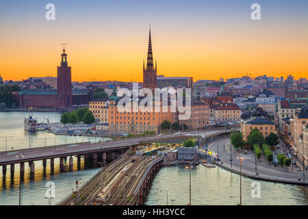 Stockholm. Cityscape image of Stockholm, Sweden during sunset. - Stock Photo