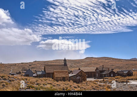 The ghost town of Bodie, California, is a landmark visited by people from all of the world. - Stock Photo