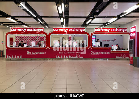 Bureau de Change office operated by Moneycorp; North Terminal, Gatwick airport. London. UK. - Stock Photo
