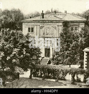 RICHARD WAGNER  German composer's villa,  Wahnfried, at Bayreuth,  seen from the garden - Stock Photo