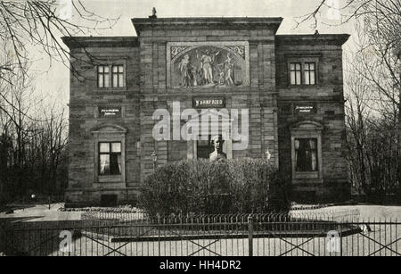 RICHARD WAGNER  German composer's villa,  Wahnfried, at Bayreuth,  seen from the front - Stock Photo