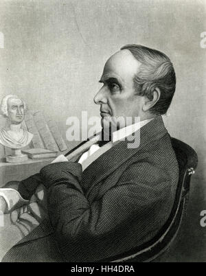 Daniel Webster (1782-1852), American lawyer and statesman, at age 67. - Stock Photo