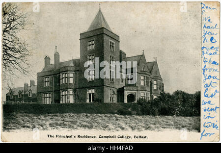 Principal's Residence, Campbell College, Belfast, Northern Ireland - Stock Photo