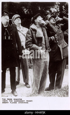British Prime Minister Winston Churchill (1874-1965), Field Marshal Jan Smuts, of the Imperial War Cabinet (1870 - Stock Photo