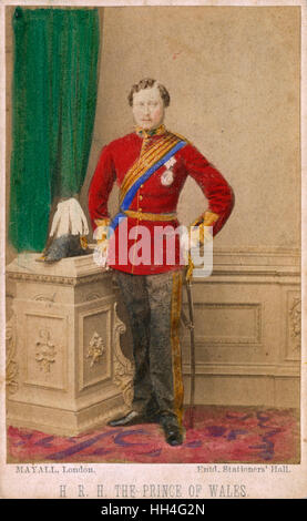 A youthful Edward, Prince of Wales (later King Edward VII) (1841-1910) in naval uniform. - Stock Photo