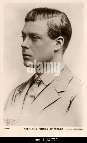The Prince of Wales, future King Edward VIII (1894-1972). - Stock Photo