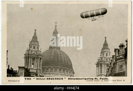 British Army Dirigible No 1, christened Nulli Secundus (Latin: 'Second to none') was a Semi-rigid airship. First - Stock Photo