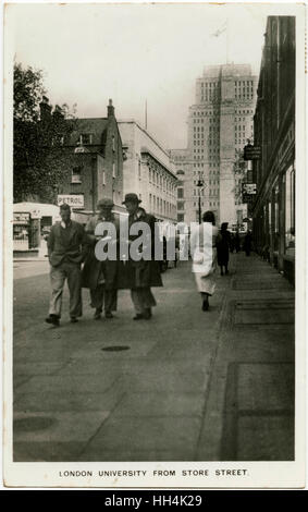 Senate House (University of London) from Store Street. - Stock Photo