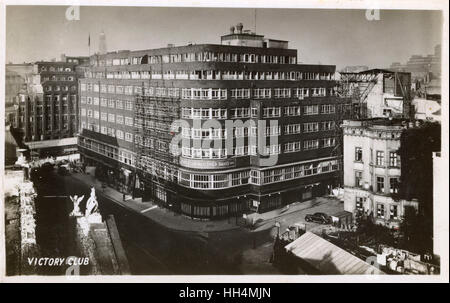 WW2 - Post-war Germany - The NAAFI (Navy, Army and Air Force Institutes) Club ('Victory Club') in Hamburg. - Stock Photo