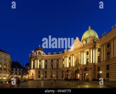 Wien, Vienna: gate Michaelertor of Hofburg, 01. Old Town, Wien, Austria - Stock Photo