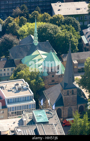 Essen Cathedral Burgplatz, Diocese of Essen, Church, Essen, Ruhr area, North Rhine-Westphalia, Germany, Europe, - Stock Photo