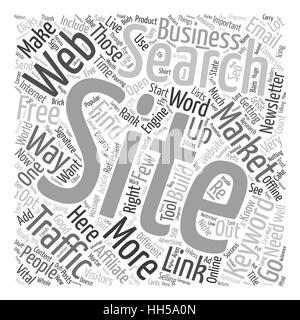 Build Free Traffic To Your Websites text background wordcloud concept - Stock Photo