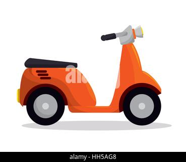 motorcycle delivery service icon vector illustration design - Stock Photo