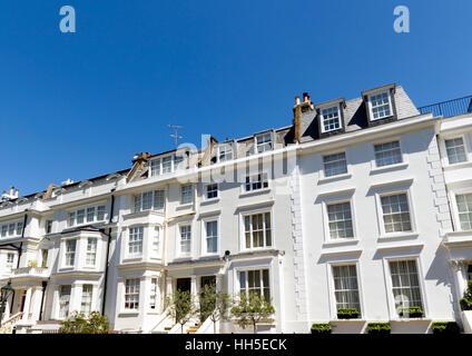 Houses in South Kensington, London, UK - Stock Photo