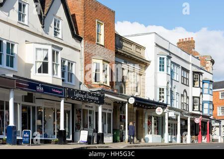 High Street, Marlborough, Wiltshire, England, United Kingdom - Stock Photo