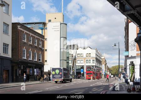 Shoreditch High Street, Shoreditch, London Borough of Hackney, Greater London, England, United Kingdom - Stock Photo