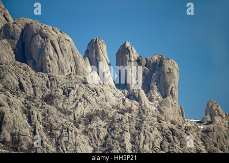 Stone sculptures of Velebit mountain, Croatia - Stock Photo