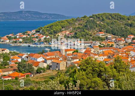 Adriatic coast - Veli Iz island, Dalmatia, Croatia - Stock Photo