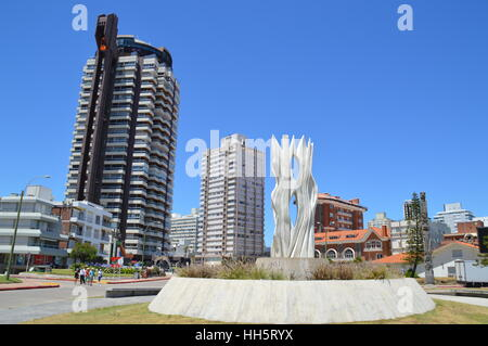 The sunny city of Punta del Este in Uruguay - Stock Photo