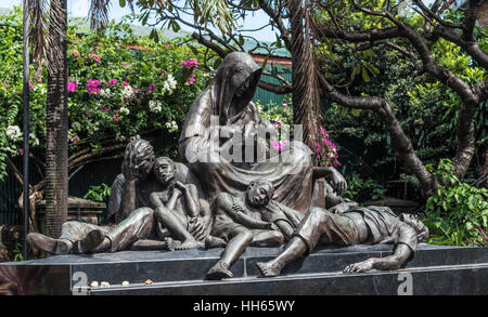 Plaza de Santa Isabel statue, Intramuros, Manila, Philippines - Stock Photo