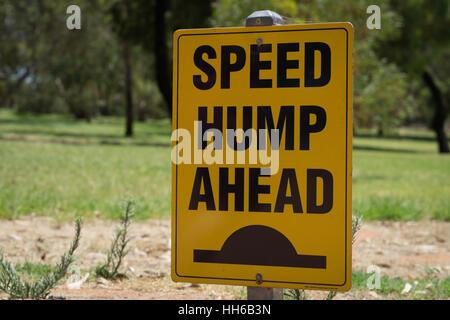 Speed Bump Ahead Sign - Stock Photo