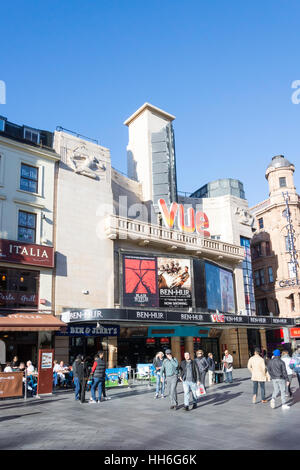 Vue Leicester Square Cinema, Cranbourn Street, Leicester Square, City of Westminster, Greater London, England, United - Stock Photo