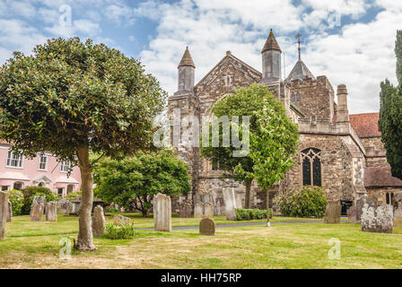 St.Mary's Church in Rye, East Sussex, England, UK | St.Mary's Kirche von Rye, East Sussex, England, UK - Stock Photo