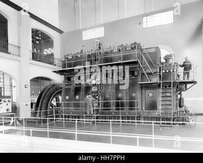 1930 - 40. Fiat - Ansaldo machine. Motors components. - Stock Photo