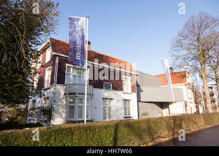 glass museum in old villa in dutch town of Leerdam in the Netherlands - Stock Photo