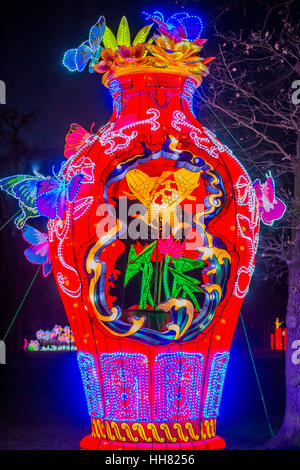 London, UK. 17th Jan, 2017. The Magical Lantern Festival gardens at Chiswick House from January 19 until February - Stock Photo