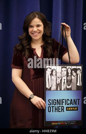 New York, USA. 17th Jan, 2017. Lindsay Mendez at the Photo Call for 'Significant Other' Press Event, at The New - Stock Photo